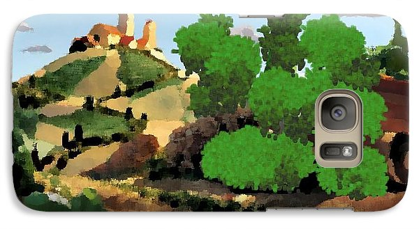 Galaxy Case featuring the digital art Village. Tower On The Hill by Dr Loifer Vladimir