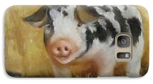 Galaxy Case featuring the painting Vindicator The Spotted Pig by Cheri Wollenberg