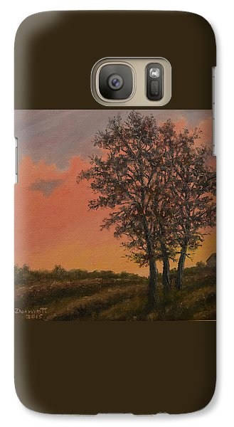 Galaxy Case featuring the painting Vineyard Sundown by Kathleen McDermott