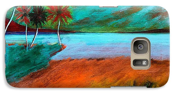 Galaxy Case featuring the painting Vinoy Park Twilight by Elizabeth Fontaine-Barr