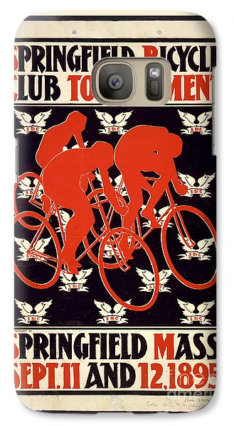 Galaxy Case featuring the photograph Vintage 1895 Springfield Bicycle Club Poster by John Stephens