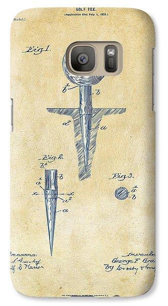 Vintage 1899 Golf Tee Patent Artwork Galaxy S7 Case