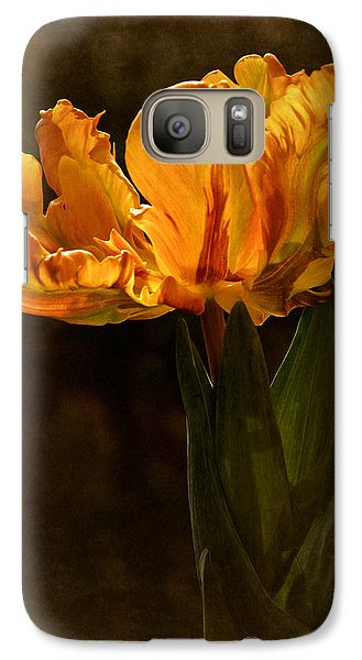 Galaxy Case featuring the photograph Vintage 2017 Tulip by Richard Cummings
