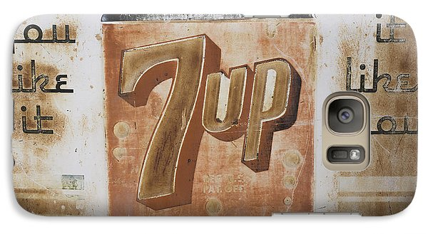 Galaxy Case featuring the photograph Vintage 7 Up Sign by Christina Lihani