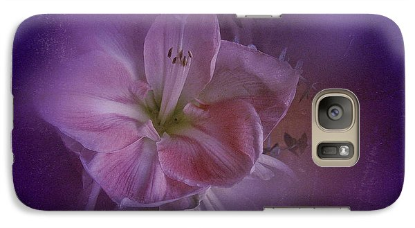 Galaxy Case featuring the photograph Vintage Amaryllis No. 3 by Richard Cummings