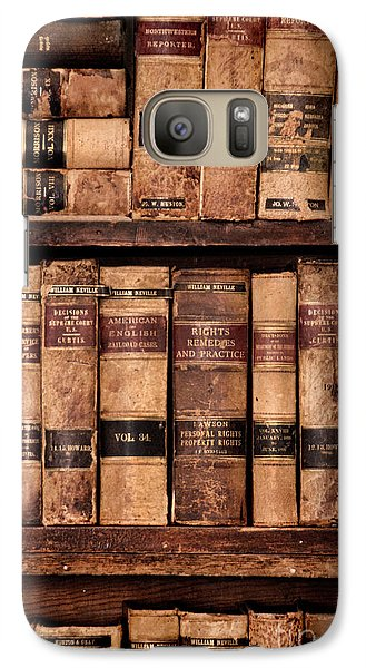 Galaxy Case featuring the photograph Vintage American Law Books by Jill Battaglia