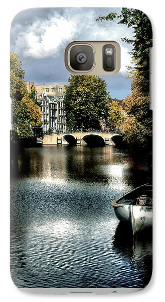 Galaxy Case featuring the photograph Vintage Amsterdam by Jim Hill