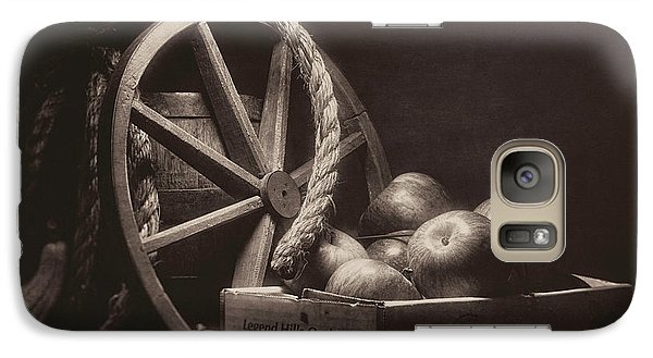 Galaxy Case featuring the photograph Vintage Apple Basket Still Life by Tom Mc Nemar