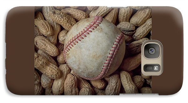 Galaxy Case featuring the photograph Vintage Baseball And Peanuts Square by Terry DeLuco