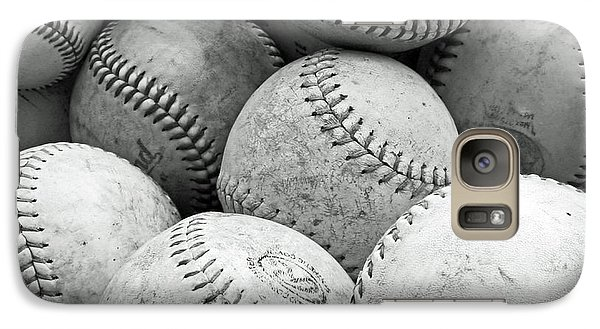 Galaxy Case featuring the photograph Vintage Baseballs by Brooke T Ryan