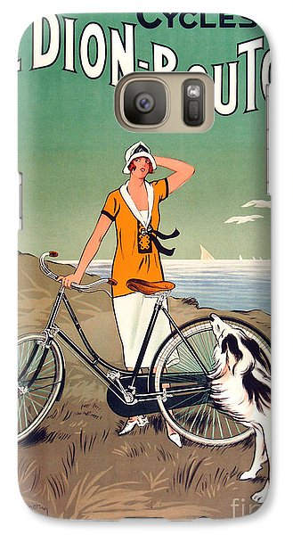 Bicycle Galaxy S7 Case - Vintage Bicycle Advertising by Mindy Sommers