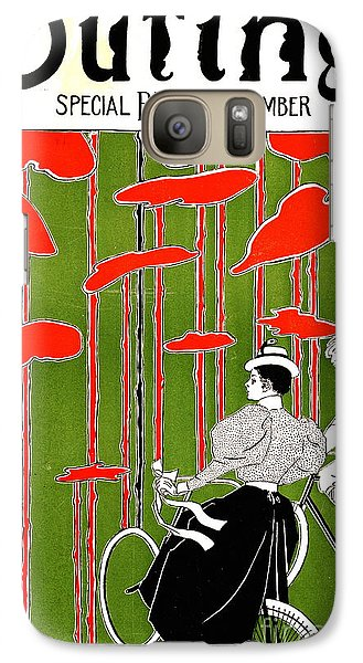 Galaxy Case featuring the photograph Vintage Bicycle Issue 1896 by Padre Art