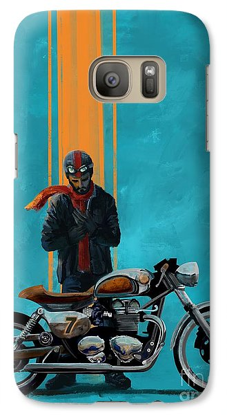 Motorcycle Galaxy S7 Case - Vintage Cafe Racer  by Sassan Filsoof