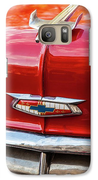 Galaxy Case featuring the photograph Vintage Chevy Hood Ornament Havana Cuba by Charles Harden