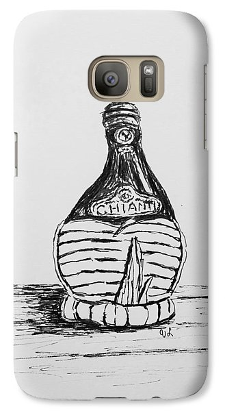 Galaxy Case featuring the drawing Vintage Chianti by Victoria Lakes