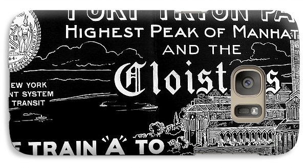 Vintage Cloisters And Fort Tryon Park Poster Galaxy S7 Case by Cole Thompson