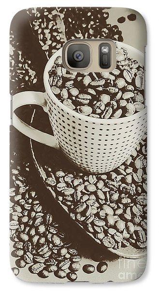 Vintage Coffee Art. Stimulant Galaxy S7 Case by Jorgo Photography - Wall Art Gallery