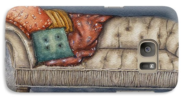 Galaxy Case featuring the painting Vintage Comfy Couch by Kelly Mills