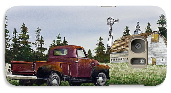 Galaxy Case featuring the painting Vintage Country Pickup by James Williamson