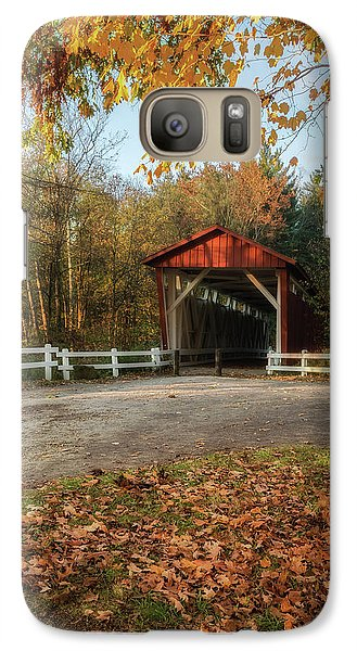 Galaxy Case featuring the photograph Vintage Covered Bridge by Dale Kincaid