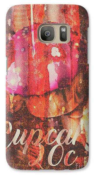 Fairy Galaxy S7 Case - Vintage Cupcake Tin Sign by Jorgo Photography - Wall Art Gallery