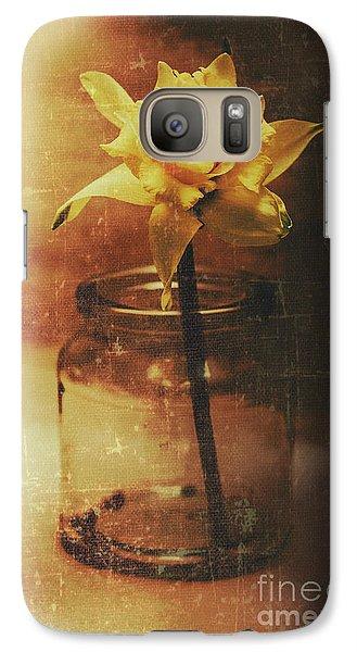 Vintage Daffodil Flower Art Galaxy S7 Case