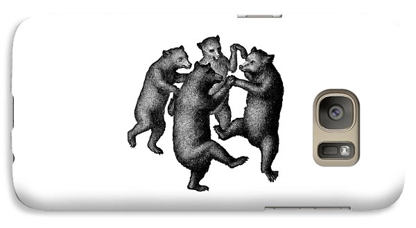 Vintage Dancing Bears Galaxy Case by Edward Fielding