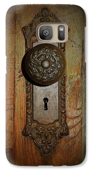 Galaxy Case featuring the photograph Vintage Door Knob by Scott Kingery