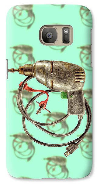 Galaxy Case featuring the photograph Vintage Drill Motor Green Trigger Pattern by YoPedro