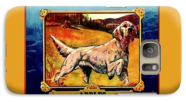 Galaxy Case featuring the painting Vintage English Setter Apples Advertisement by Peter Gumaer Ogden