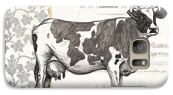 Bull Galaxy S7 Case - Vintage Farm 4 by Debbie DeWitt