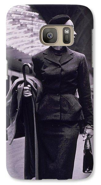 Train Galaxy S7 Case - Vintage Fashion Elegant Lady by Mindy Sommers