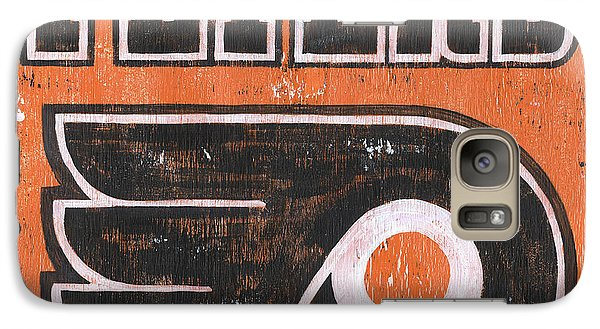 Hockey Galaxy S7 Case - Vintage Flyers Sign by Debbie DeWitt