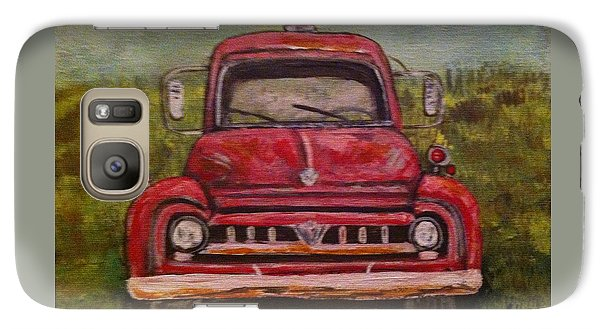 Galaxy Case featuring the painting Vintage  Ford Fire Truck by Belinda Lawson