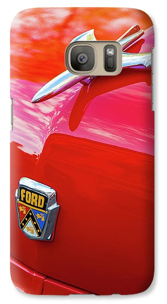 Galaxy Case featuring the photograph Vintage Ford Hood Ornament Havana Cuba by Charles Harden