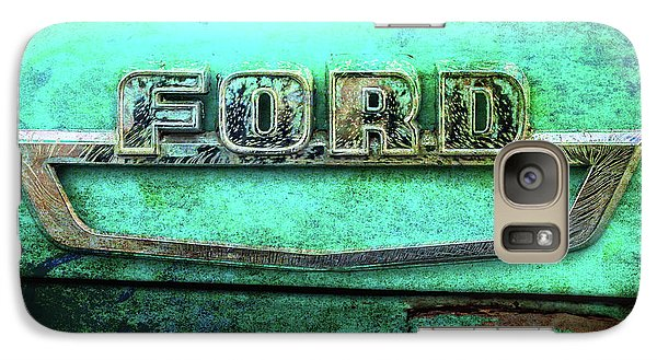 Galaxy Case featuring the photograph Vintage Ford Truck Logo  by Terry DeLuco