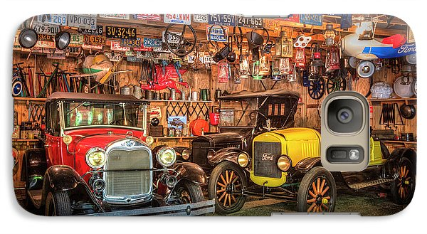 Galaxy Case featuring the photograph Vintage Fords Collectibles by Debra and Dave Vanderlaan