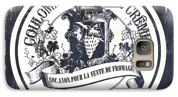 Goat Galaxy S7 Case - Vintage French Cheese Label 2 by Debbie DeWitt