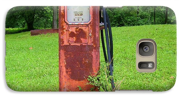 Galaxy Case featuring the photograph Vintage Gas Pump by Donna Dixon