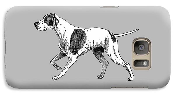 Galaxy Case featuring the painting Vintage German Shorthaired Pointer by Marian Cates