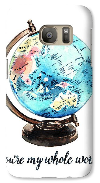 Vintage Globe Love You're My Whole World Galaxy Case by Laura Row
