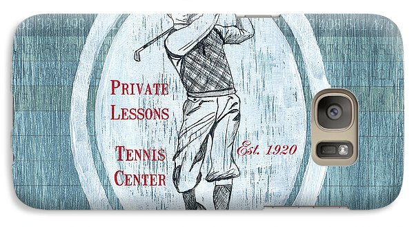 Vintage Golf Blue 2 Galaxy S7 Case
