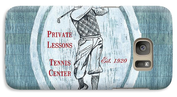 Vintage Golf Blue 2 Galaxy S7 Case by Debbie DeWitt