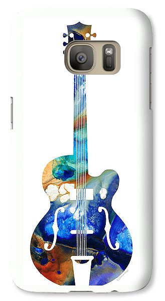 Vintage Guitar - Colorful Abstract Musical Instrument Galaxy S7 Case