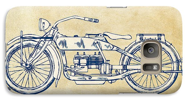 Vintage Harley-davidson Motorcycle 1919 Patent Artwork Galaxy S7 Case by Nikki Smith