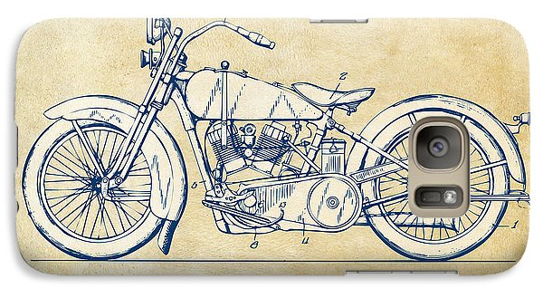 Vintage Harley-davidson Motorcycle 1928 Patent Artwork Galaxy S7 Case