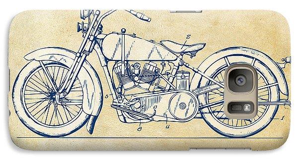 Vintage Harley-davidson Motorcycle 1928 Patent Artwork Galaxy Case by Nikki Smith