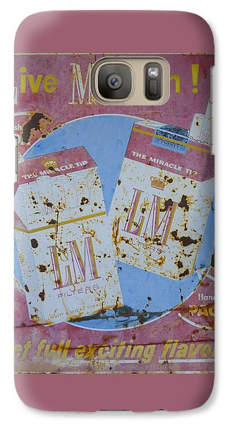 Galaxy Case featuring the photograph Vintage L And M Cigarette Sign by Christina Lihani