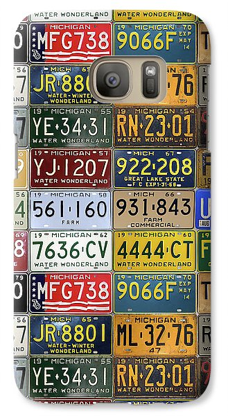 Vintage License Plates From Michigan's Rich Automotive Past Galaxy S7 Case by Design Turnpike