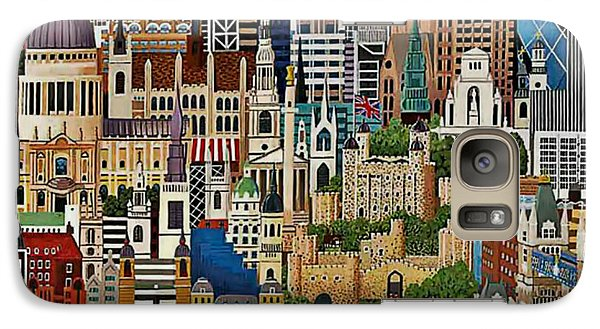 Galaxy Case featuring the drawing Vintage London by Digital Art Cafe